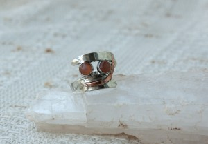 Peach Moonstone Ring 8