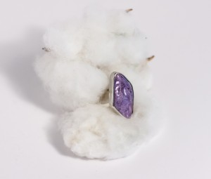 Beautiful Light Purple Charoite Bezel Set in Sterling Silver