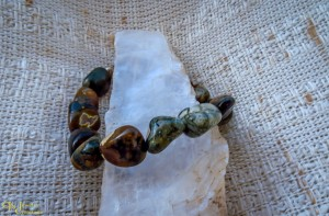 Sterling Silver and Rain Forest Jasper