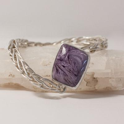 Light Purple twirls and swirls, fine and sterling silver