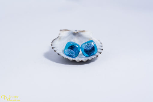 Turquoise Dots Surgical Steel Post Earrings