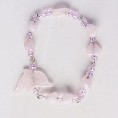 Pink Dolphin Stacking Bracelet