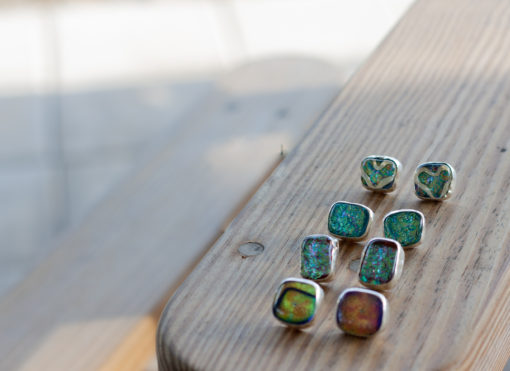 Dichroic Glass, Fine Silver, Sterling Silver