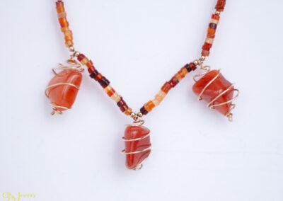 Carnelian Cage Necklace
