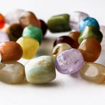 Colorful Mixed Gemstone Elastic Stretch Bracelet