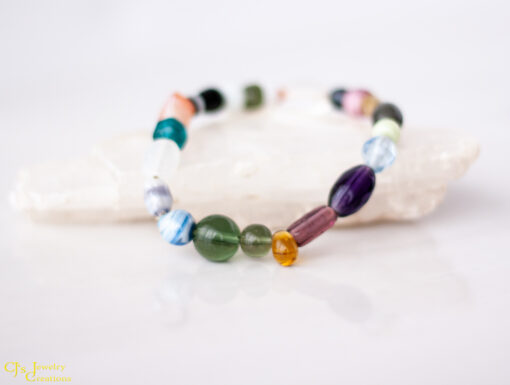 Glass Elastic Stretch Bracelets