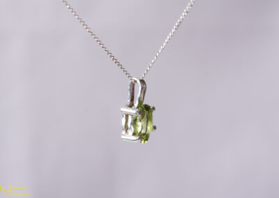 Side view of Peridot Necklace